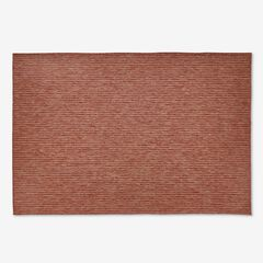 "Carmel Indoor/Outdoor Textured Solid Rug 4'10"" x 7'6"", RED"
