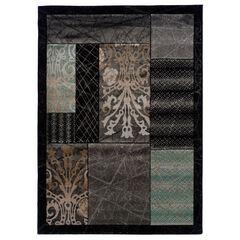Milan Black/Black 8'X10' Area Rug,