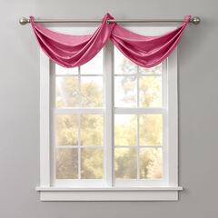 BH Studio Room-Darkening Waterfall Grommet Valance, CHERRY