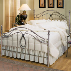 "Full Bed with Bed Frame 76""Lx55""Wx55""H,"