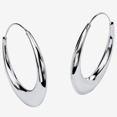Sterling Silver Polished Hoop Earrings (47mm),