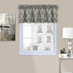 "Avery Window Curtain Valance 58"" x 14"", CHARCOAL"