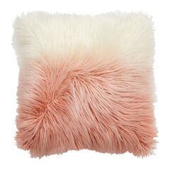 Ombré Flokati Pillow, PINK WHITE