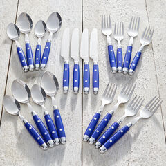 20-Pc. Flatware Set, BLUE