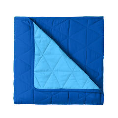 BH Studio Triangle Reversible Quilt, OCEAN BLUE MARINE BLUE