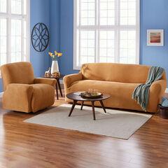 BH Studio Brighton Stretch Sofa Slipcover, MARIGOLD