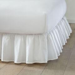 Ruffle Bedskirt, WHITE