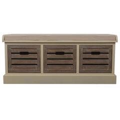 Melody Storage Bench, WHITE