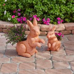 Set of 2 Bunny Planters,