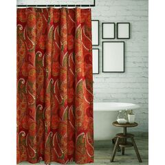 Tivoli Cinnamon Shower Curtain by Greenland Home Fashions, CINNAMON