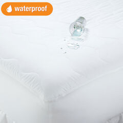 Total Protection Mattress Pad, WHITE