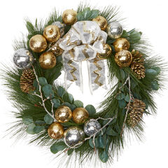 "30"" Noble Glitz Wreath,"
