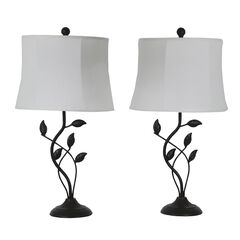 Organic Leaf 2-Pack Table Lamps by J. Hunt,