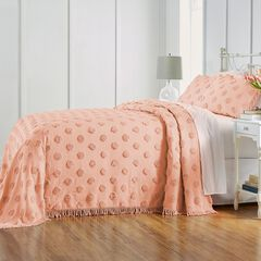 Pepper Dot Chenille Bedspread, BLUSH