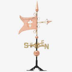 Copper Banner Weathervane, POLISHED