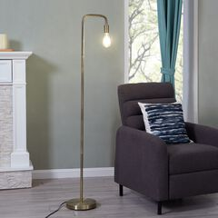 Maddox Antique Brass Floor Lamp,