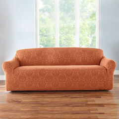 BH Studio Ikat Stretch Extra-Long Sofa Slipcover,