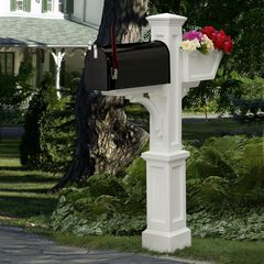 Westbrook Plus Mail Post, WHITE