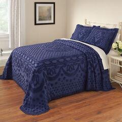 Georgia Chenille Bedspread, BLUE