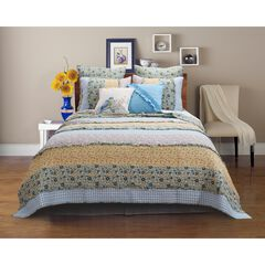 Ditsy Ruffle Quilt Set by Barefoot Bungalow, MULTI