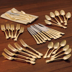 61-Pc. Gold Flatware Set, GOLD