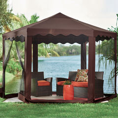 New and Improved 13'W Hexagon Gazebo,