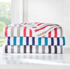 BH Studio Striped 2-Pc. Towel Set, CHARCOAL SILVER