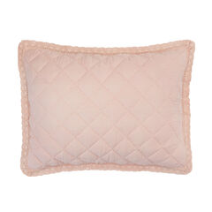 Paige Diamond Lace Sham, ROSE