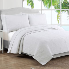 Estate Collection Seaside Quilt Set, WHITE
