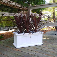"""Cape Cod Patio Planter 24"""" x 11"""", WHITE"""