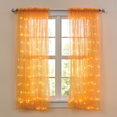"63"" Pre-Lit Rod-Pocket Curtain Panel, MARIGOLD"
