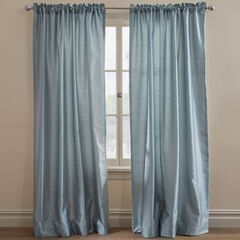 Ming Faux Silk Thermal-Lined Panel Pair, MISTY BLUE
