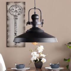 Industrial Bell Pendant Lamp, MATTE BLACK