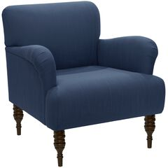 Linen Arm Chair, LINEN NAVY