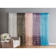 "84"" Pre-Lit Rod-Pocket Curtain Panel, WHITE"