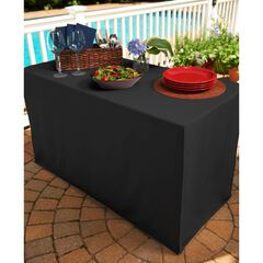 Fresh Ideas Table Cover for Folding Table, BLACK