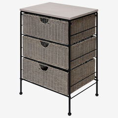 Autumn Grey 3 Drawer Chest, GREY