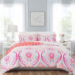 Nicole Miller Isabella Kid's Reversible Comforter Set, MULTI