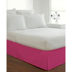 "Luxury Hotel Classic Tailored 14"" Drop Pink Bed Skirt, PINK"