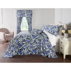 Florence Oversized Bedspread, NAVY FLORAL MULTI