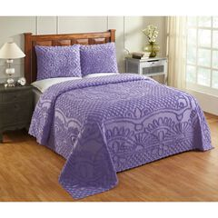 Trevor Collection Tufted Chenille Bedspread Set by Better Trends, LAVENDER