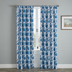 Mix and Match Rod-Pocket Panel, BLUE FLORAL