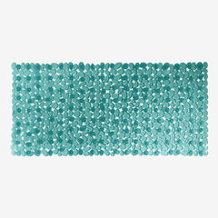 Extra Long Tub Mat With River Stones Design, TURQUOISE