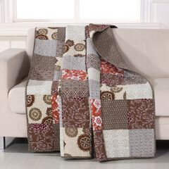 Greenland Home Fashions Stella Quilted Patchwork Throw Blanket, MULTI