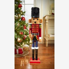"24""H Bear Wood Nutcracker,"