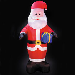 8' Inflatable Lighted Santa, RED
