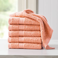 BH Studio 6-Pc. Washcloth Set, PEACH