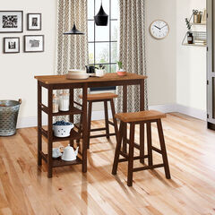 Tampa 3-Pc. Bar Table & Stools, EXPRESSO