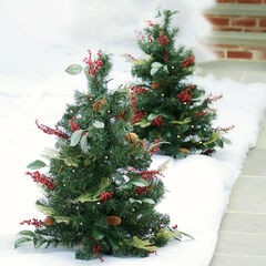 3' Pre-Lit Decorated Stake Tree, MULTI