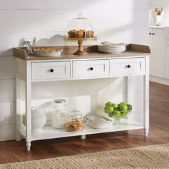 Beaumont 3-Drawer Console, WHITE